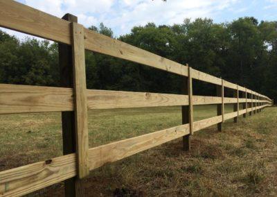 Equestrian rail fencing